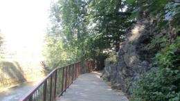 Odsłonięcie sfałdowanych łupków górnego dewonu nad Pełcznicą