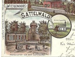 Sattelwaldbaude na pocztówce z 1890r.